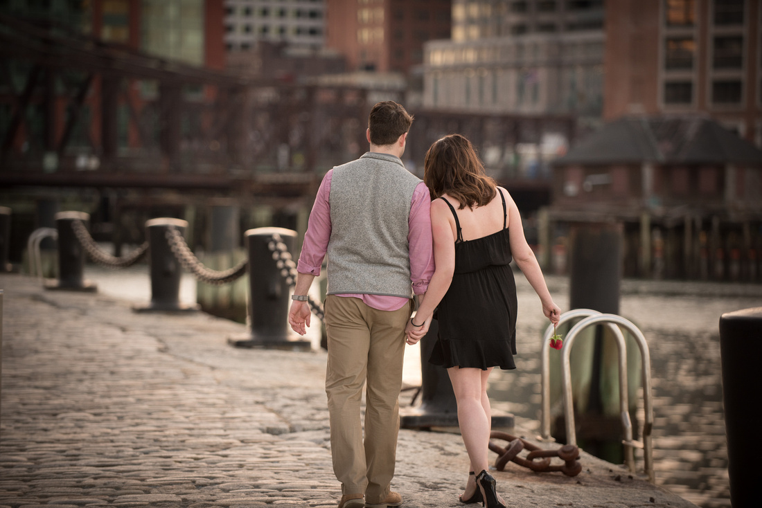 South Boston Pier Engagement Photography